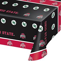 "54X108"" Plastic Table Cover - Ohio State"