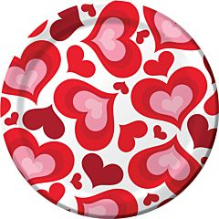 "Valentine Hearts - 9"" Plate 8ct"