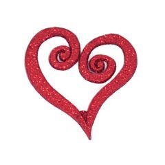 "12"" Glitter Heart Swirl Pick"