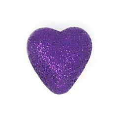40mm Purple Glitter Heart Pick