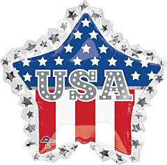 """34"""" USA Star Ruffle"""