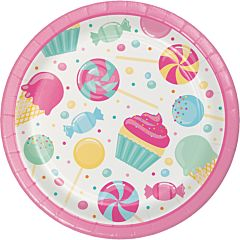 "7"" Candy Bouquet Plate - 8ct"