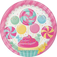 "9"" Candy Bouquet Plate - 8ct"