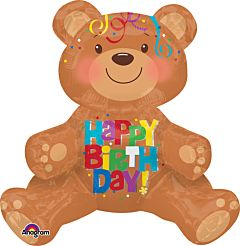 "19"" Happy Birthday Bear Consumer Inflate"