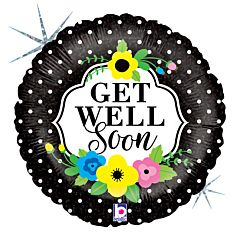 """9"""" Floral Get Well Soon"""