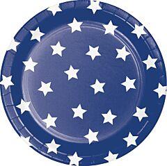 """Patriotic - 9"""" Paper Plate 8 ct"""