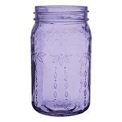 """6.5"""" Vintage Crystal Jar - Purple"""