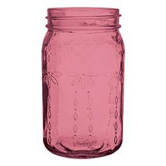 """6.5"""" Vintage Crystal Jar - Pink"""