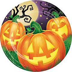 "Pumpkin Party - 9"" Plate 8Ct"