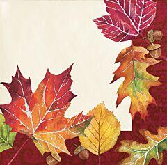 Fallen Leaves - Bev Napkin 16Ct