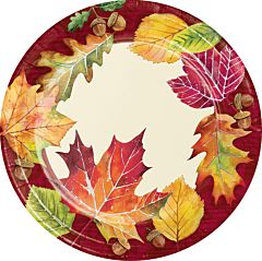 "Fallen Leaves - 7"" Plate 8Ct"