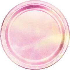 "Iridescent - 9"" Paper Plate 8 Ct"