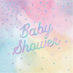 Irid Baby Shower -Lunch Nap 16Ct