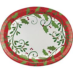 Holiday Holly - Oval Platter 8Ct