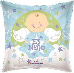 """18"""" Angel Sobre Nubes Es Nino"""