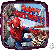 "17"" Spiderman Happy Birthday"