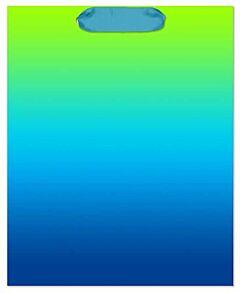 """10X6X13"""" Ombre Bag - Green/Blue"""