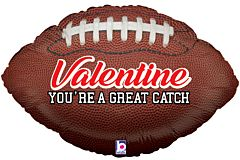 "29"" Great Catch Valentine Football"