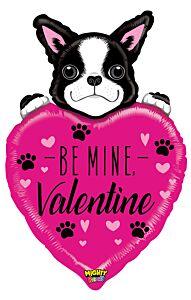 "37"" Mighty Be Mine Valentine Dog"