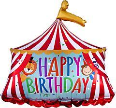 """28"""" Circus Tent Happy Birthday"""