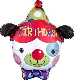 "20"" Happy Birthday Clown Dog"