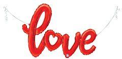 """47"""" Love Script Red"""