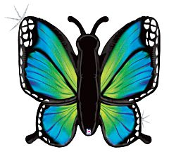 """46"""" Rad Butterfly Holographic Blue"""