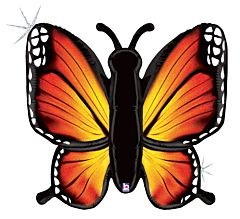 """46"""" Rad Butterfly Holographic Orange"""