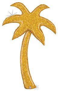 5' Gold Glitter Palm Tree