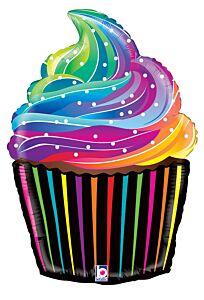 "27"" Rainbow Cupcake"