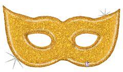 "51"" Gold Glitter Mask Holographic"