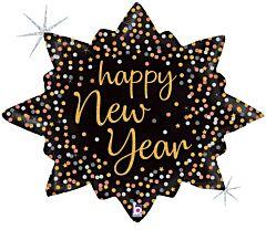 "32"" New Year Confetti Burst Holographic"