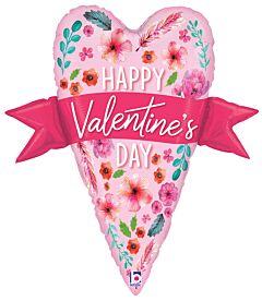 """29"""" Valentine Banner Heart"""