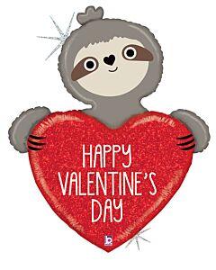 "35"" Valentine Sloth Holographic"