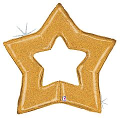 """48"""" Gold Star Holographic"""