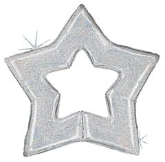 """48"""" Silver Star Holographic"""