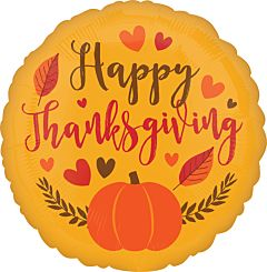 """18"""" Happy Thanksgiving Hearts/Leaves"""