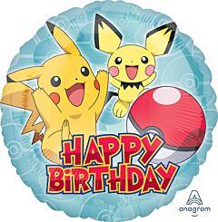 """17"""" Pokemon Happy Birthday"""