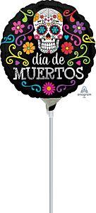 "9"" Colorful Dia De Muertos"