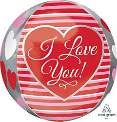 """16"""" Love Stripes Orbz"""