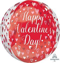 "16"" Playful Valentine Hearts Orbz"