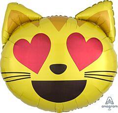 "22"" Emoticon Cat Love"