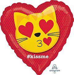 "17"" Cat Emoticon Kiss"