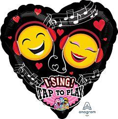 "29"" Emoticon Love Sing a Tune"