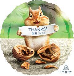 """17"""" Avanti Thank You Chipmunk"""