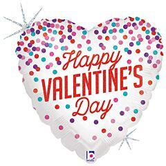 """18"""" Valentine Confetti Holographic"""
