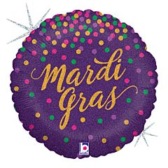 """18"""" Mardi Gras Confetti Holographic"""
