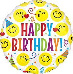 "18"" Birthday Emoticons"