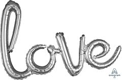 "31"" Phrase Love Silver Consumer Inflate"
