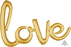 "31"" Phrase Love Gold Consumer Inflate"